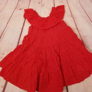 Oshkosh red eyelet dress 18 months